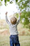 Toddler reaching up Stock Photography