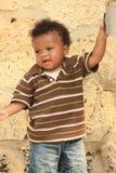 Toddler Reaching for Water Royalty Free Stock Photos