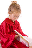 Toddler reading Stock Photo