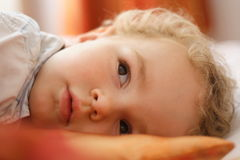 Toddler resting Royalty Free Stock Photos