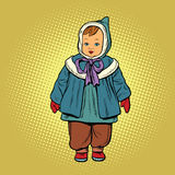 Toddler retro clothes doll Stock Photography