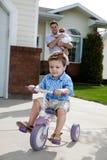 Toddler Riding Bicycle Stock Image