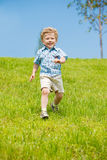 Toddler running Royalty Free Stock Photos