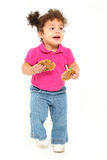 Toddler Running Cookies Stock Images