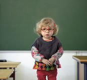 Toddler s first day in kindergarten Royalty Free Stock Photos