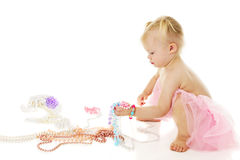 A Toddler's Fistful of Pearls Stock Photography