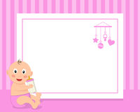 Toddler It's a Girl Horizontal Photo Frame Stock Image