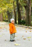 Toddler's outdoor portrait Royalty Free Stock Photography