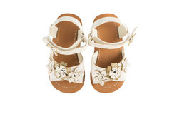 Toddler sandals isolated on white Stock Images