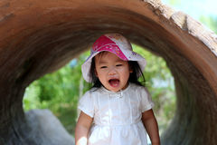 Toddler Screaming Happiness. Toddler Screaming and having fun royalty free stock photo
