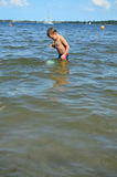 Toddler in the sea Royalty Free Stock Photo