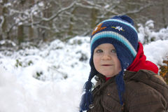 Toddler in snow Royalty Free Stock Images