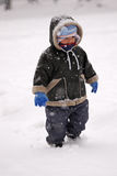 Toddler in Snow Royalty Free Stock Photography
