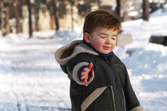 Toddler in Snow Stock Photos