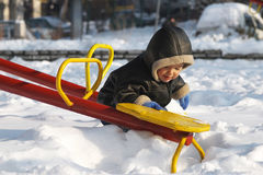 Toddler in Snow Royalty Free Stock Image