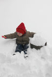 Toddler in the snow Royalty Free Stock Photo