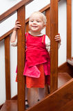 Toddler on staircase Royalty Free Stock Photography