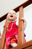 Toddler on staircase Stock Image
