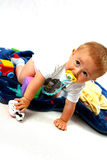 Toddler in the studio stock photos