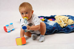 Toddler in the studio Royalty Free Stock Photos