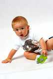 Toddler in the studio Stock Images