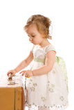 Toddler with suitcase Royalty Free Stock Image