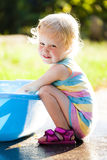 Toddler in summer Royalty Free Stock Photography