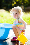 Toddler in summer Stock Images