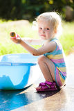 Toddler in summer Royalty Free Stock Photo