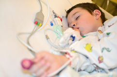Toddler after surgery Royalty Free Stock Image