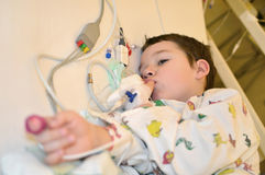 Toddler after surgery Stock Images