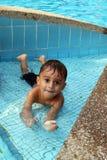 Toddler swimming Royalty Free Stock Photo