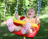 Toddler on a swing