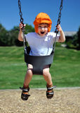 Toddler on Swing Stock Image
