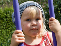 Toddler on a swing Royalty Free Stock Images