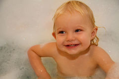Toddler taking a bath 2 Stock Photography