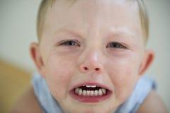 Toddler tantrum!. A two year old little boy throws a temper tantrum stock photos