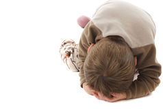 Toddler temper tantrum Stock Images
