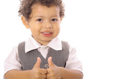 Toddler thumbs up Royalty Free Stock Photography