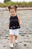 Toddler toddling on the beach Royalty Free Stock Photography