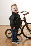 Toddler With Tricycle Royalty Free Stock Photos