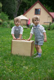 Toddler twin boys Royalty Free Stock Photography