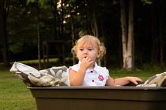 Toddler Wagon Royalty Free Stock Photos