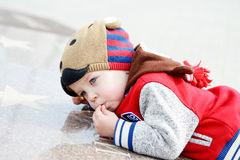 Toddler on the walk Stock Photography