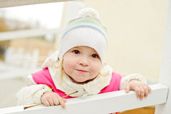 Toddler on the walk Royalty Free Stock Photo