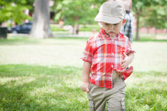 Toddler Walking Outside stock photos