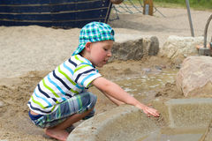 Toddler with water Stock Image
