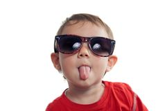Toddler wearing sunglasses Royalty Free Stock Photography