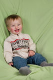 Toddler in Winter Clothes. A portrait of a cute toddler dressed in winter clothes stock photo