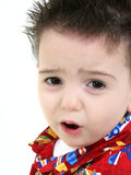 toddlerboy övre rubbning för tätt uttryck fotografering för bildbyråer